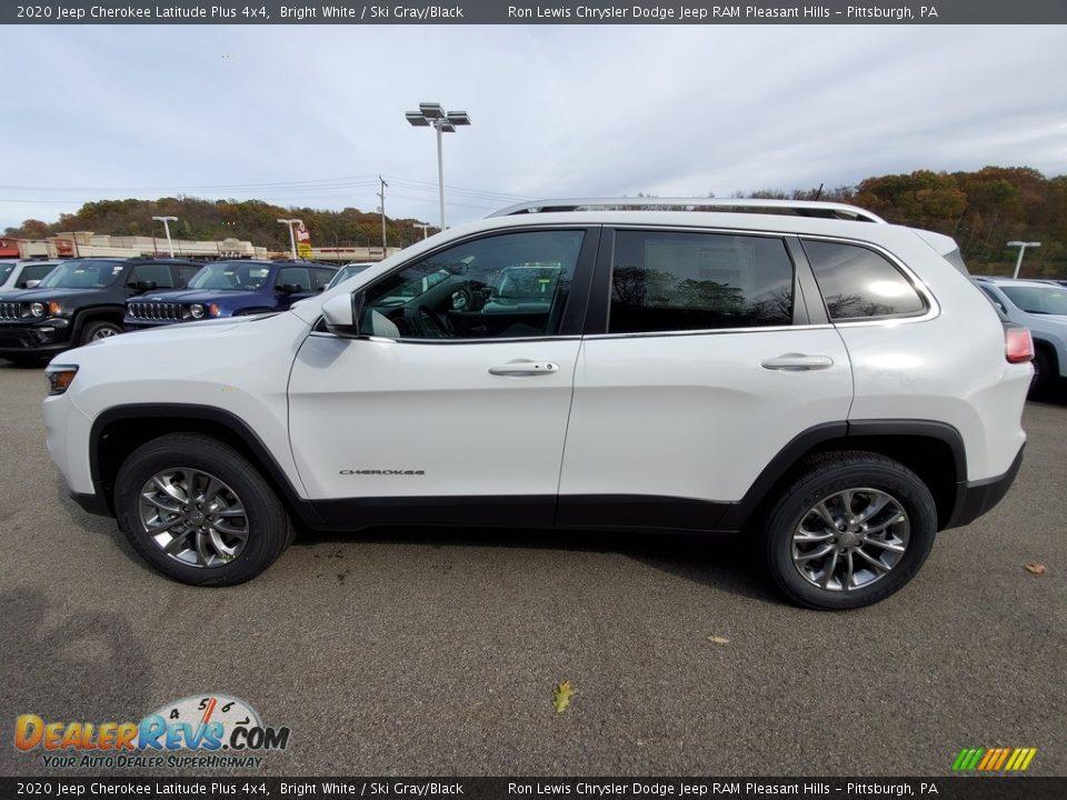 2020 Jeep Cherokee Latitude Plus 4x4 Bright White / Ski Gray/Black Photo #2