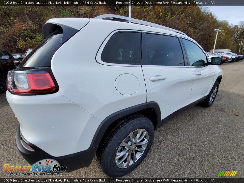 2020 Jeep Cherokee Latitude Plus 4x4 Bright White / Ski Gray/Black Photo #6
