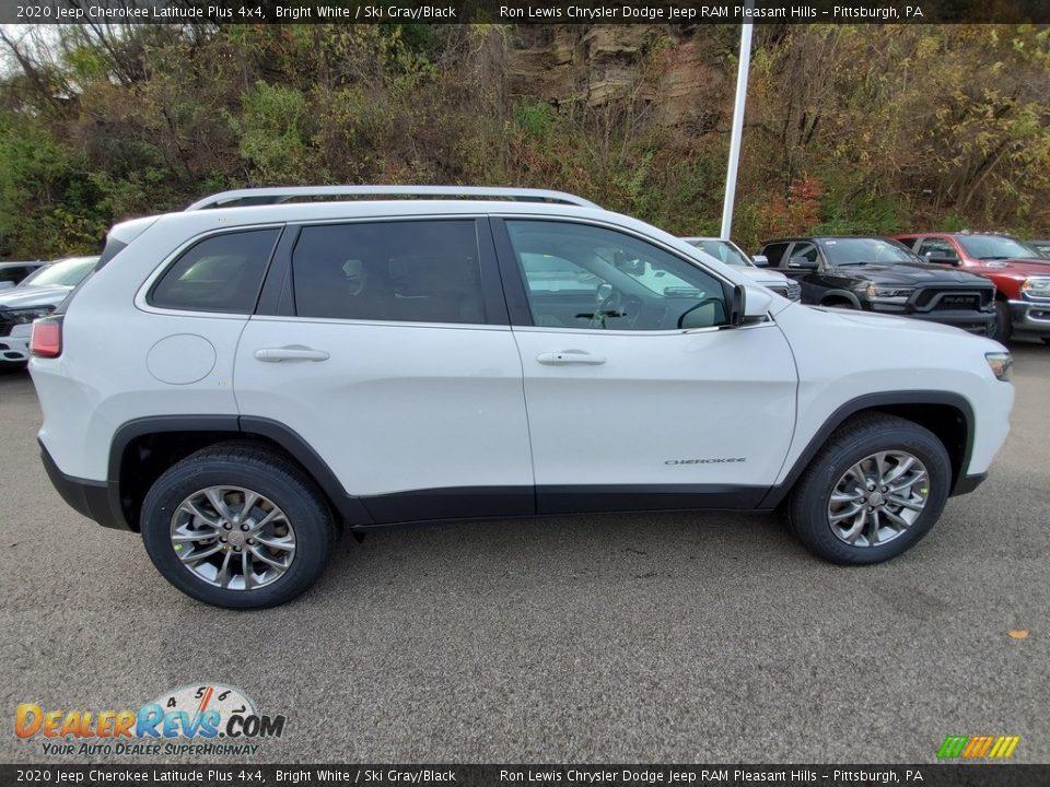 2020 Jeep Cherokee Latitude Plus 4x4 Bright White / Ski Gray/Black Photo #7
