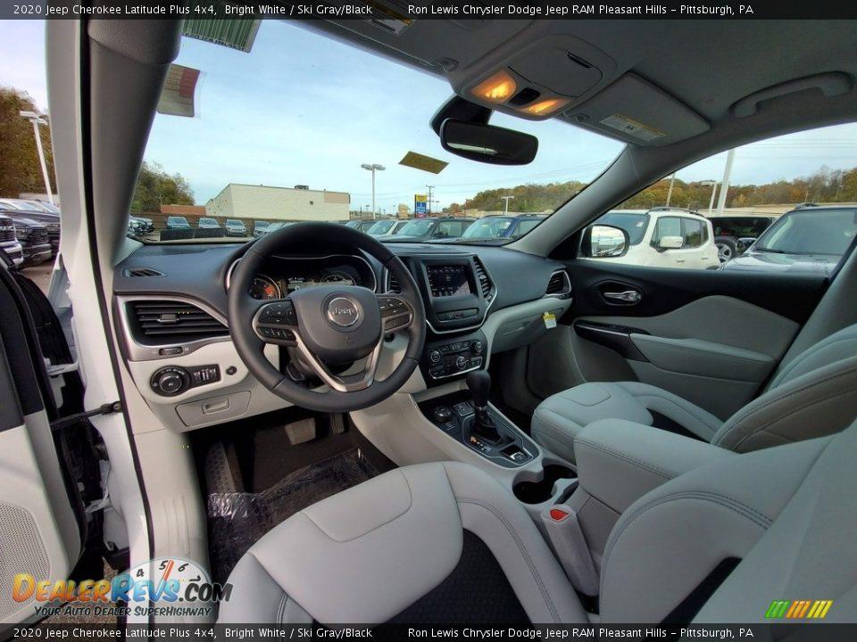 2020 Jeep Cherokee Latitude Plus 4x4 Bright White / Ski Gray/Black Photo #13