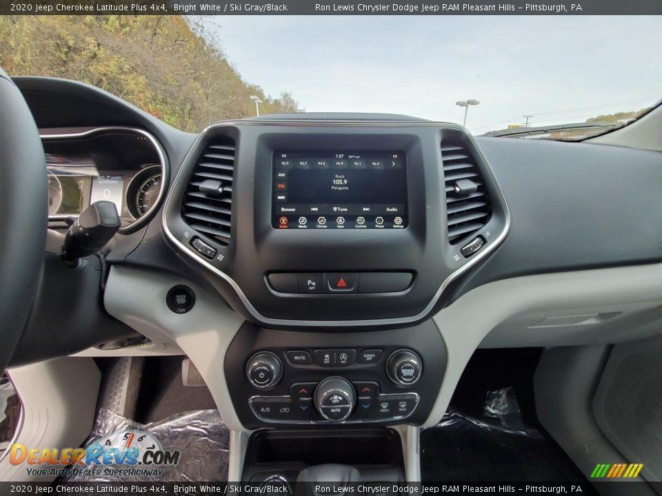 2020 Jeep Cherokee Latitude Plus 4x4 Bright White / Ski Gray/Black Photo #17