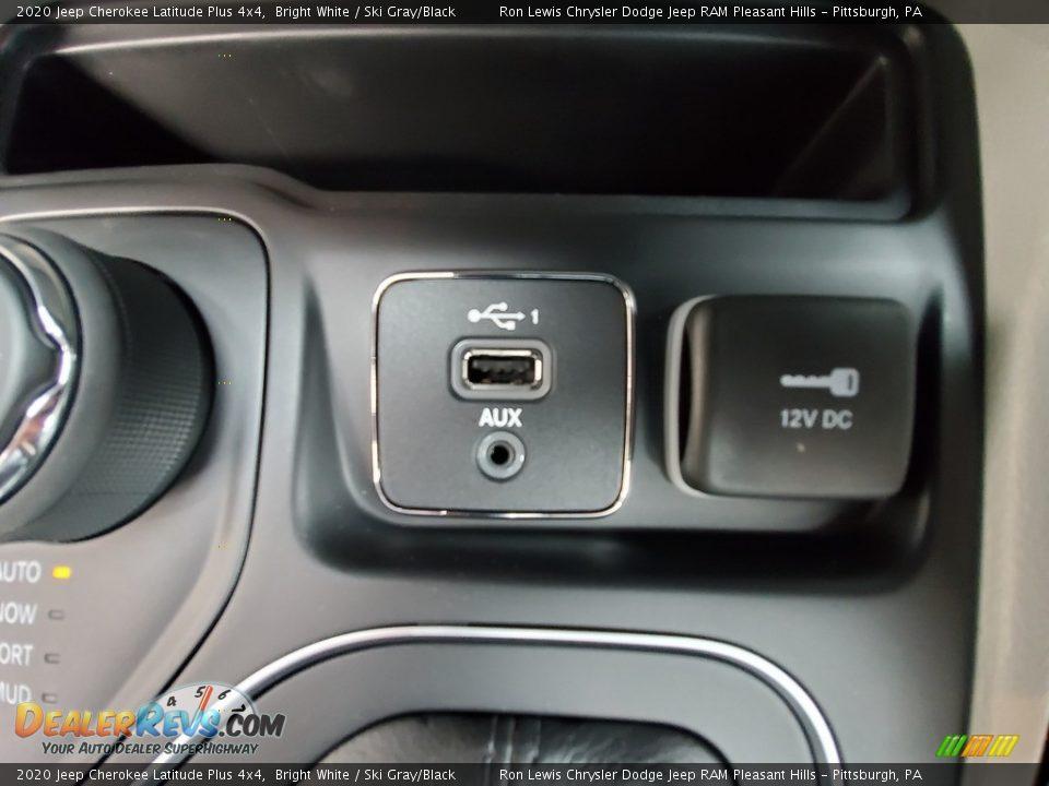 2020 Jeep Cherokee Latitude Plus 4x4 Bright White / Ski Gray/Black Photo #19