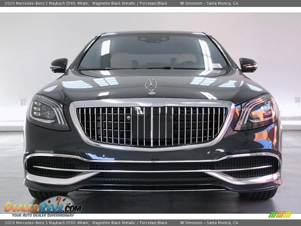 2020 Mercedes-Benz S Maybach S560 4Matic Magnetite Black Metallic / Porcelain/Black Photo #2