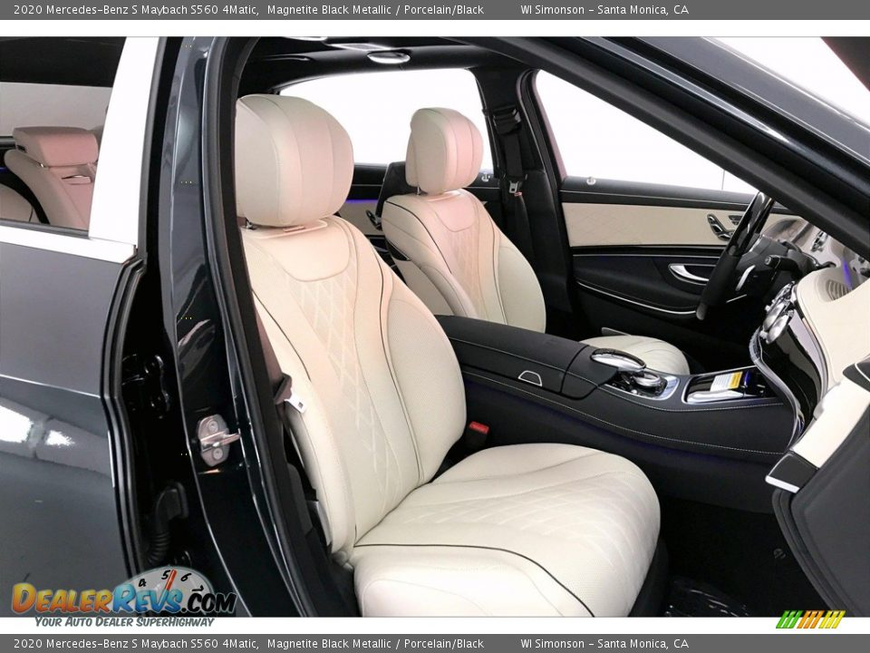 Porcelain/Black Interior - 2020 Mercedes-Benz S Maybach S560 4Matic Photo #6
