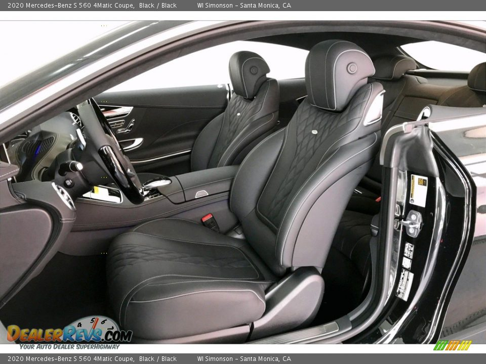 Black Interior - 2020 Mercedes-Benz S 560 4Matic Coupe Photo #14