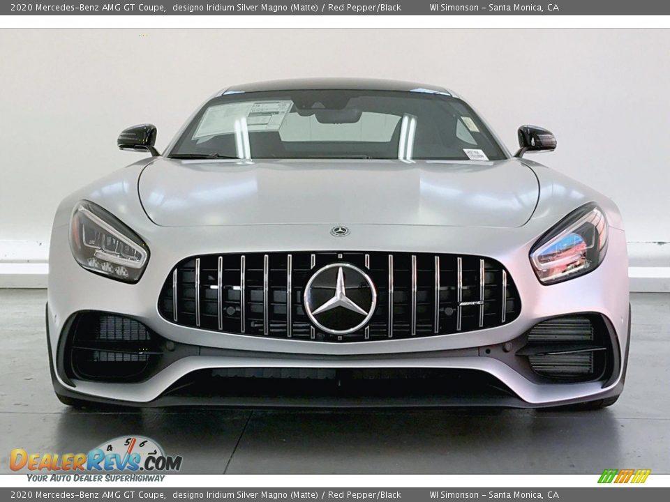2020 Mercedes-Benz AMG GT Coupe designo Iridium Silver Magno (Matte) / Red Pepper/Black Photo #2