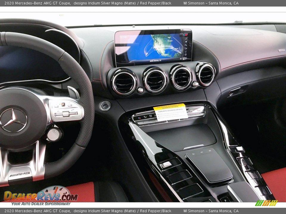2020 Mercedes-Benz AMG GT Coupe designo Iridium Silver Magno (Matte) / Red Pepper/Black Photo #5