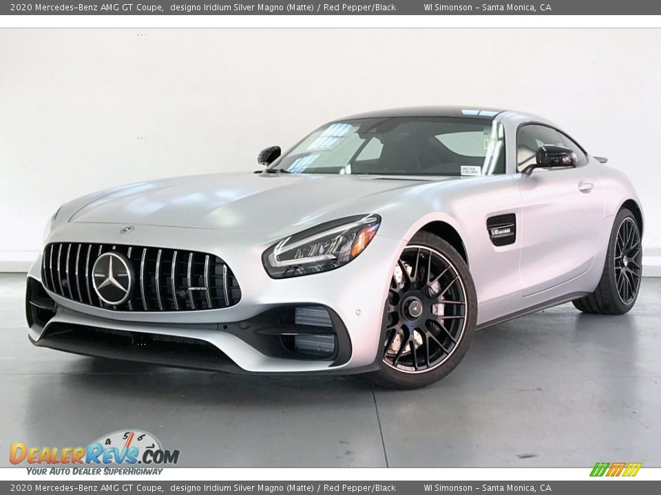 2020 Mercedes-Benz AMG GT Coupe designo Iridium Silver Magno (Matte) / Red Pepper/Black Photo #12