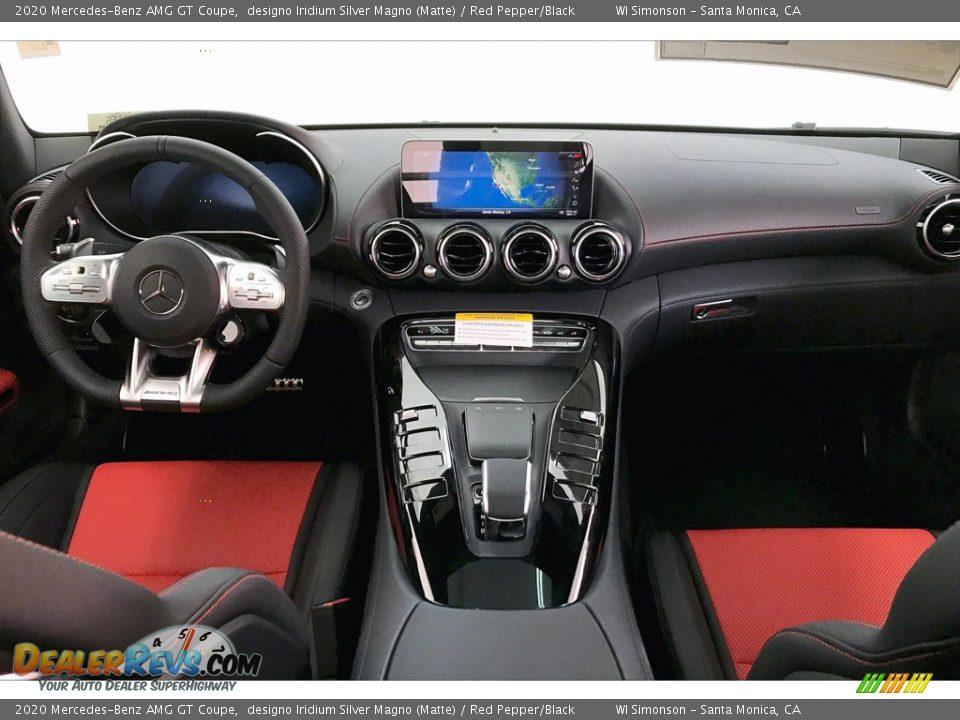2020 Mercedes-Benz AMG GT Coupe designo Iridium Silver Magno (Matte) / Red Pepper/Black Photo #15