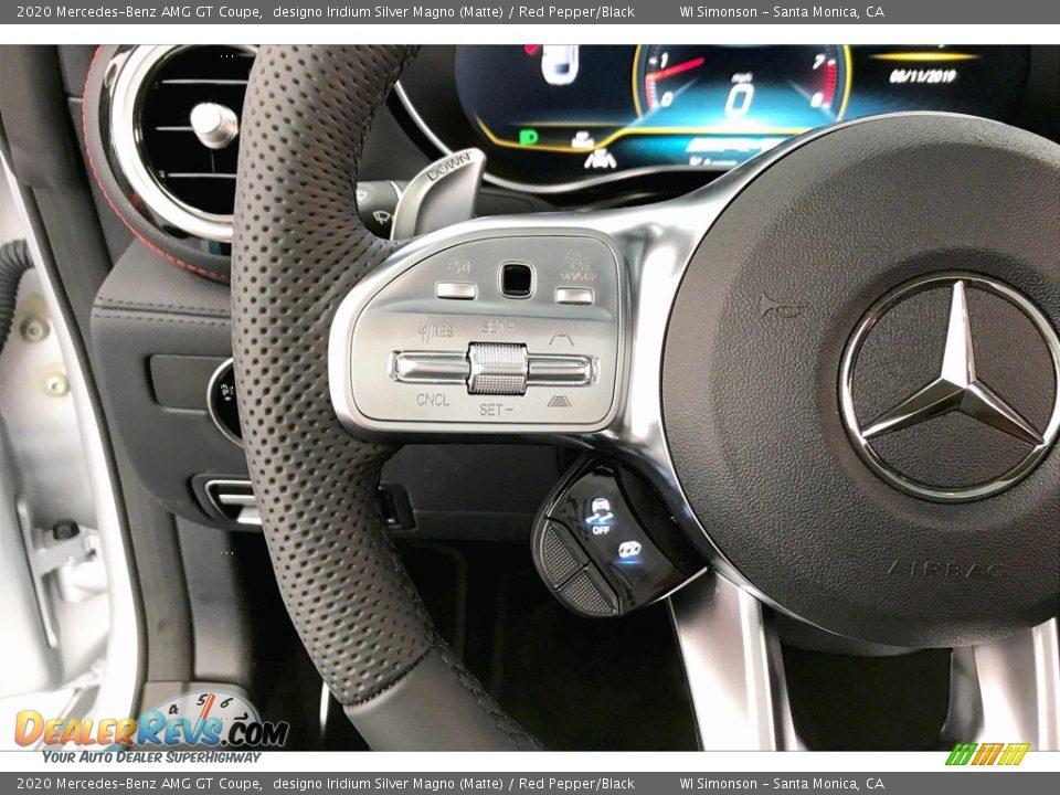 2020 Mercedes-Benz AMG GT Coupe designo Iridium Silver Magno (Matte) / Red Pepper/Black Photo #16