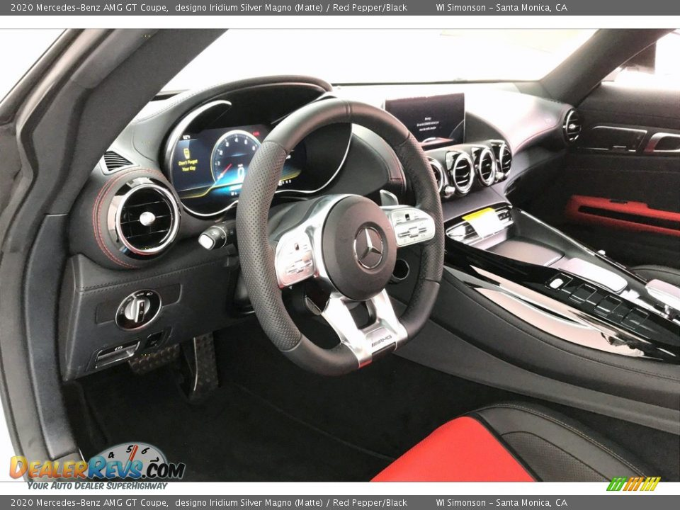 2020 Mercedes-Benz AMG GT Coupe designo Iridium Silver Magno (Matte) / Red Pepper/Black Photo #20