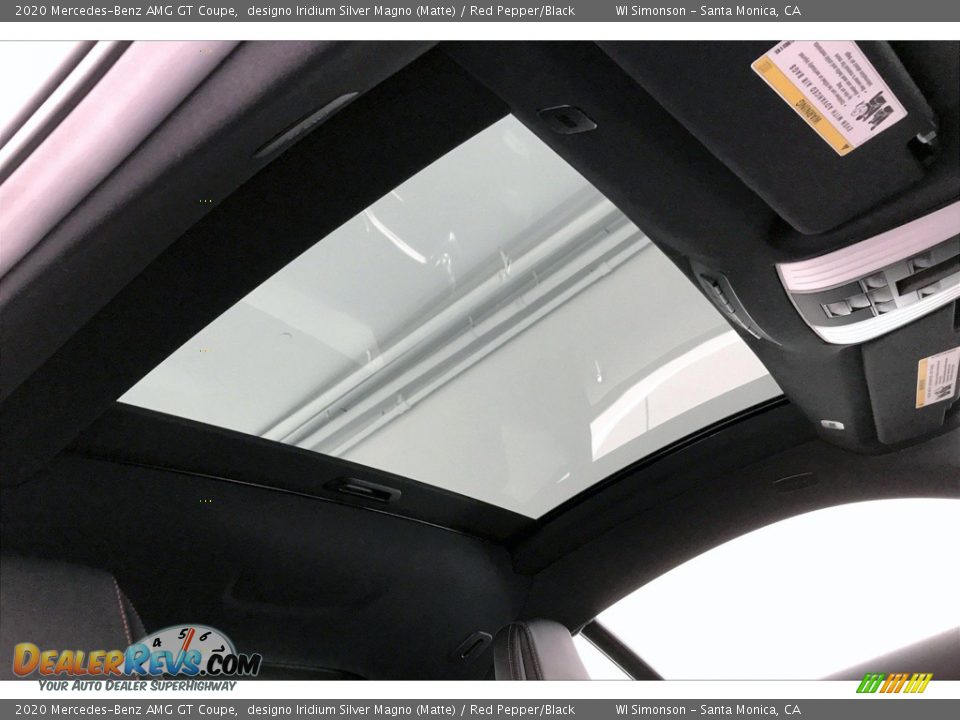 2020 Mercedes-Benz AMG GT Coupe designo Iridium Silver Magno (Matte) / Red Pepper/Black Photo #27