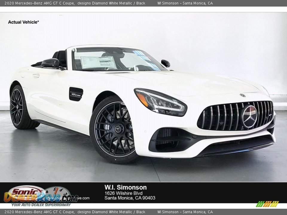 2020 Mercedes-Benz AMG GT C Coupe designo Diamond White Metallic / Black Photo #1