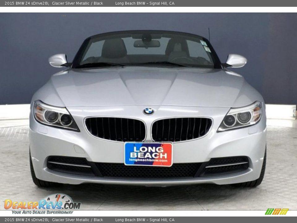 2015 BMW Z4 sDrive28i Glacier Silver Metallic / Black Photo #2
