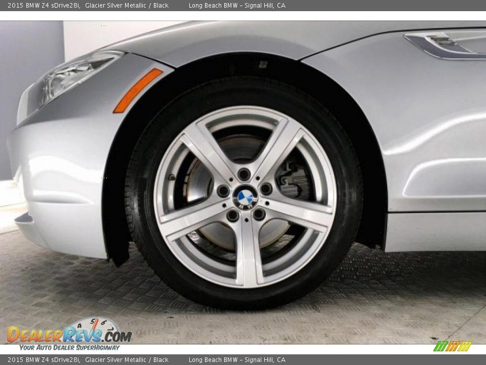 2015 BMW Z4 sDrive28i Glacier Silver Metallic / Black Photo #8