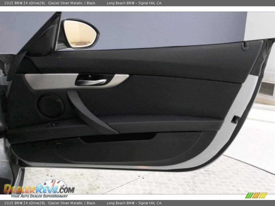 2015 BMW Z4 sDrive28i Glacier Silver Metallic / Black Photo #24