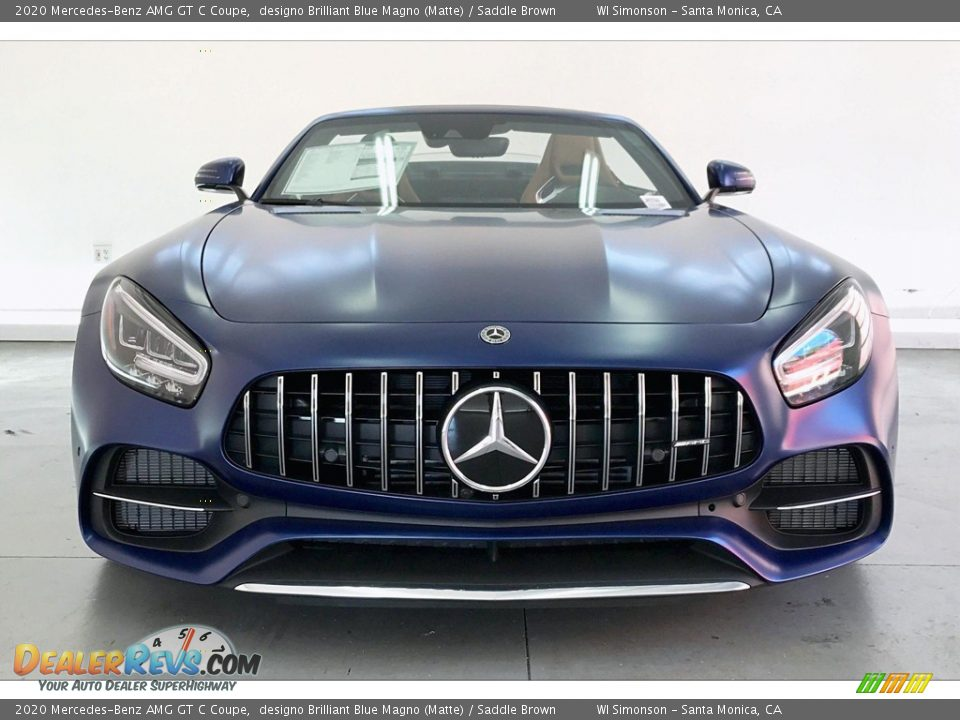 designo Brilliant Blue Magno (Matte) 2020 Mercedes-Benz AMG GT C Coupe Photo #2