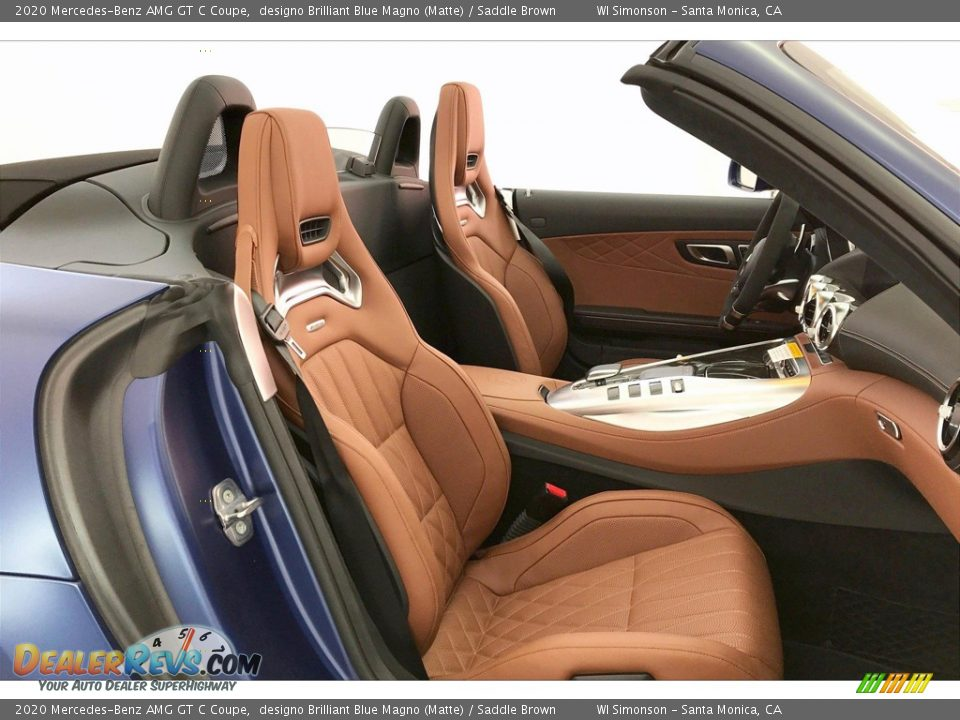 Saddle Brown Interior - 2020 Mercedes-Benz AMG GT C Coupe Photo #6