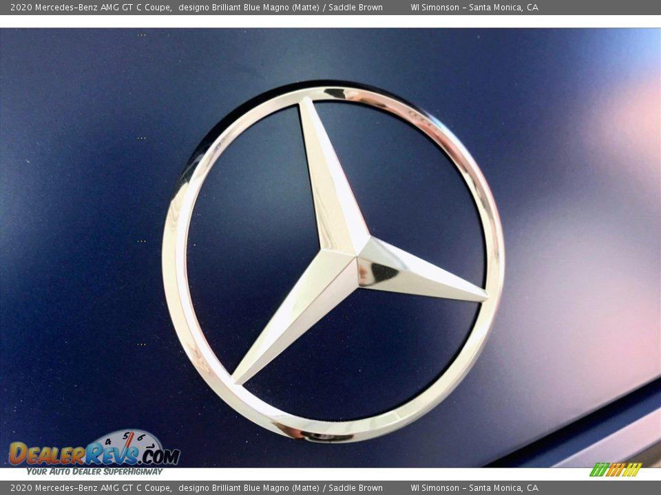 2020 Mercedes-Benz AMG GT C Coupe designo Brilliant Blue Magno (Matte) / Saddle Brown Photo #7