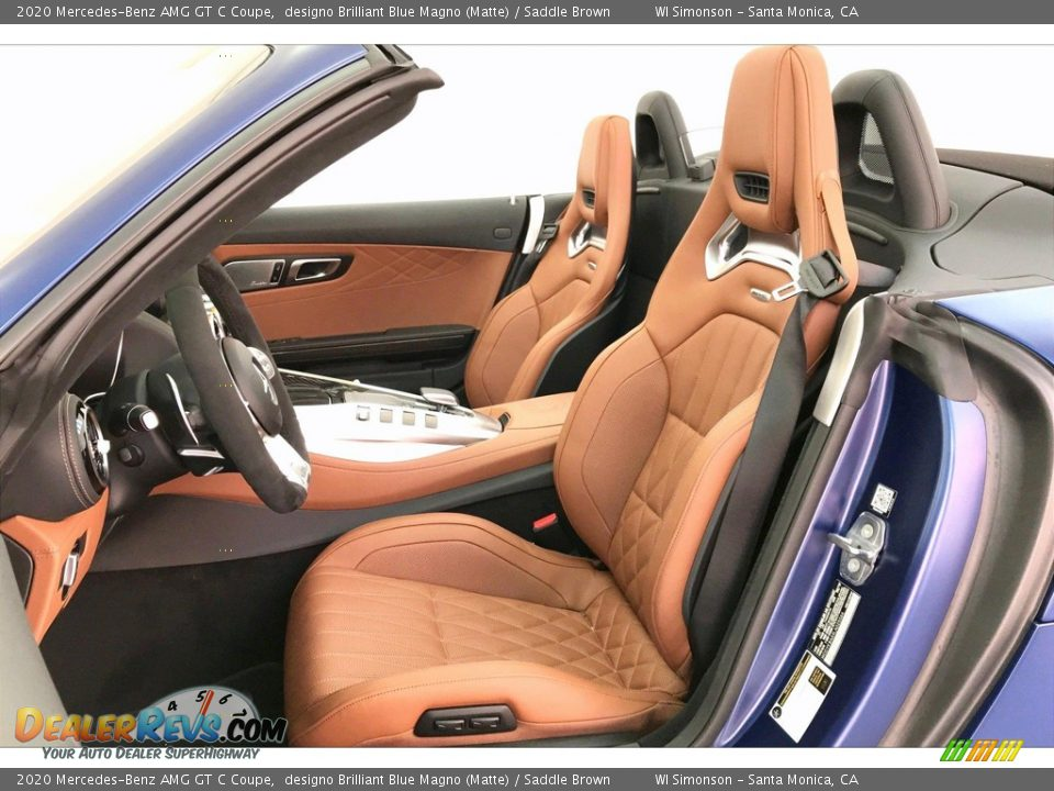 Saddle Brown Interior - 2020 Mercedes-Benz AMG GT C Coupe Photo #13