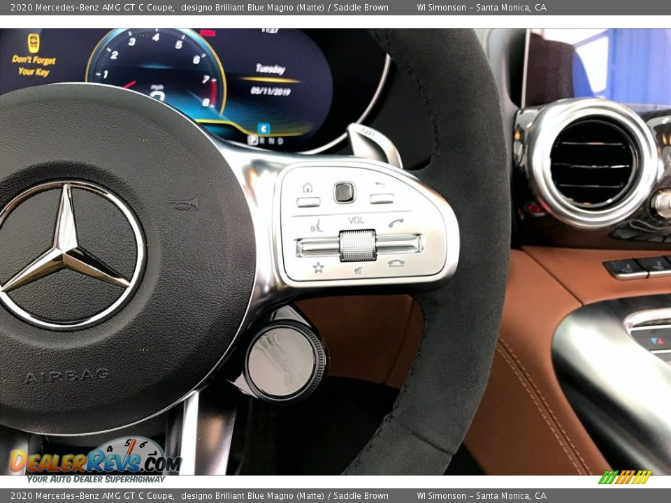 2020 Mercedes-Benz AMG GT C Coupe Steering Wheel Photo #17