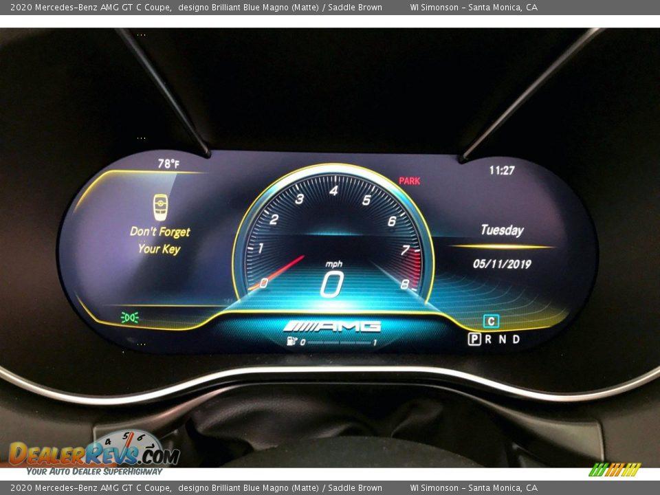 2020 Mercedes-Benz AMG GT C Coupe Gauges Photo #18