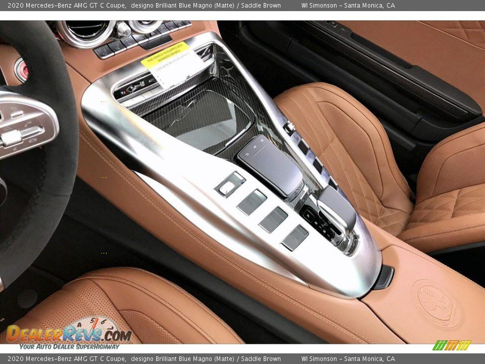 2020 Mercedes-Benz AMG GT C Coupe designo Brilliant Blue Magno (Matte) / Saddle Brown Photo #21