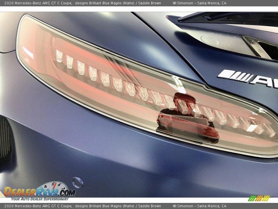 2020 Mercedes-Benz AMG GT C Coupe designo Brilliant Blue Magno (Matte) / Saddle Brown Photo #24
