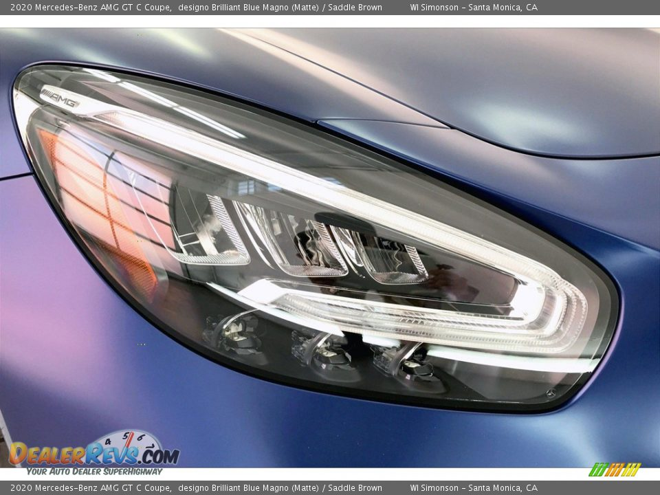 2020 Mercedes-Benz AMG GT C Coupe designo Brilliant Blue Magno (Matte) / Saddle Brown Photo #29