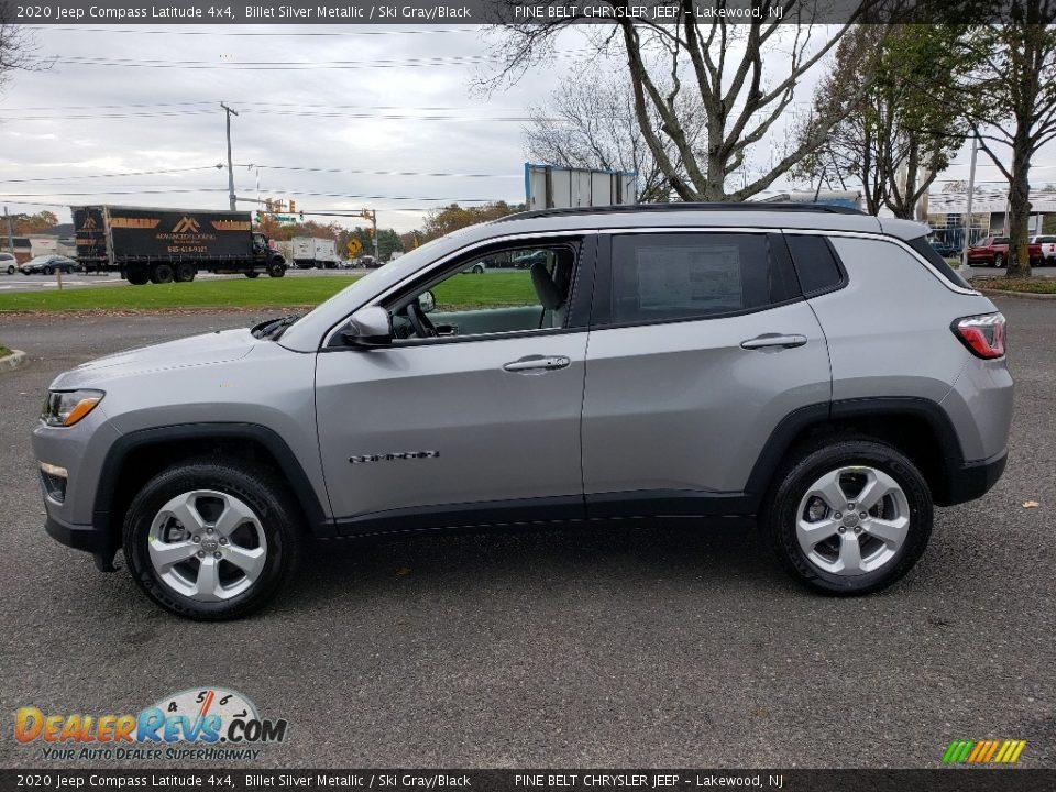 2020 Jeep Compass Latitude 4x4 Billet Silver Metallic / Ski Gray/Black Photo #3