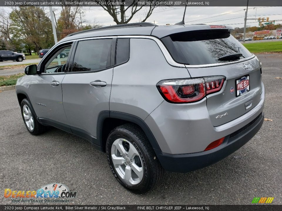 2020 Jeep Compass Latitude 4x4 Billet Silver Metallic / Ski Gray/Black Photo #4