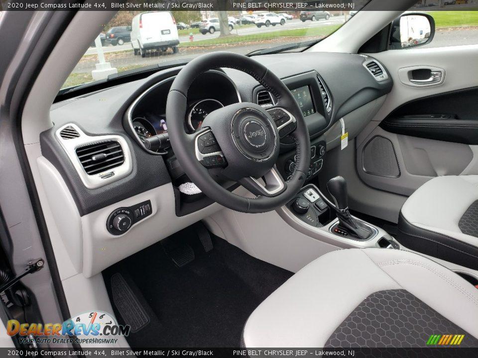 2020 Jeep Compass Latitude 4x4 Billet Silver Metallic / Ski Gray/Black Photo #7