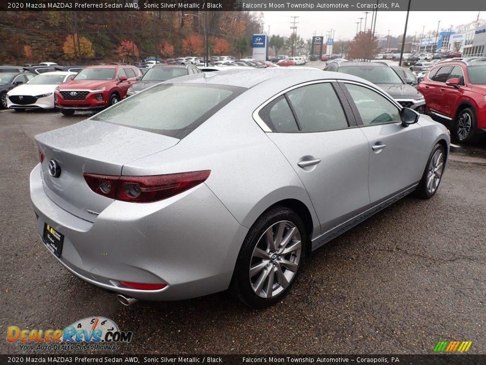 2020 Mazda MAZDA3 Preferred Sedan AWD Sonic Silver Metallic / Black Photo #2