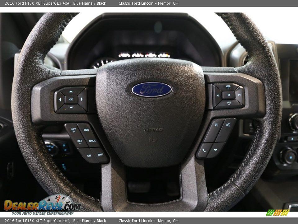 2016 Ford F150 XLT SuperCab 4x4 Blue Flame / Black Photo #7