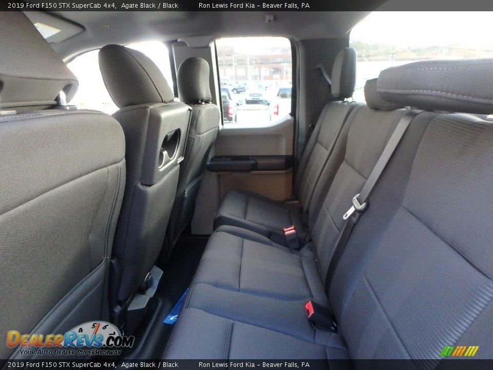 2019 Ford F150 STX SuperCab 4x4 Agate Black / Black Photo #12