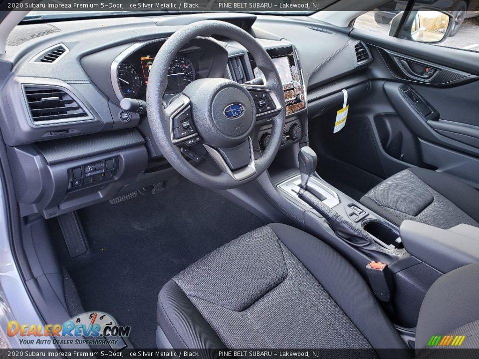 Black Interior - 2020 Subaru Impreza Premium 5-Door Photo #8