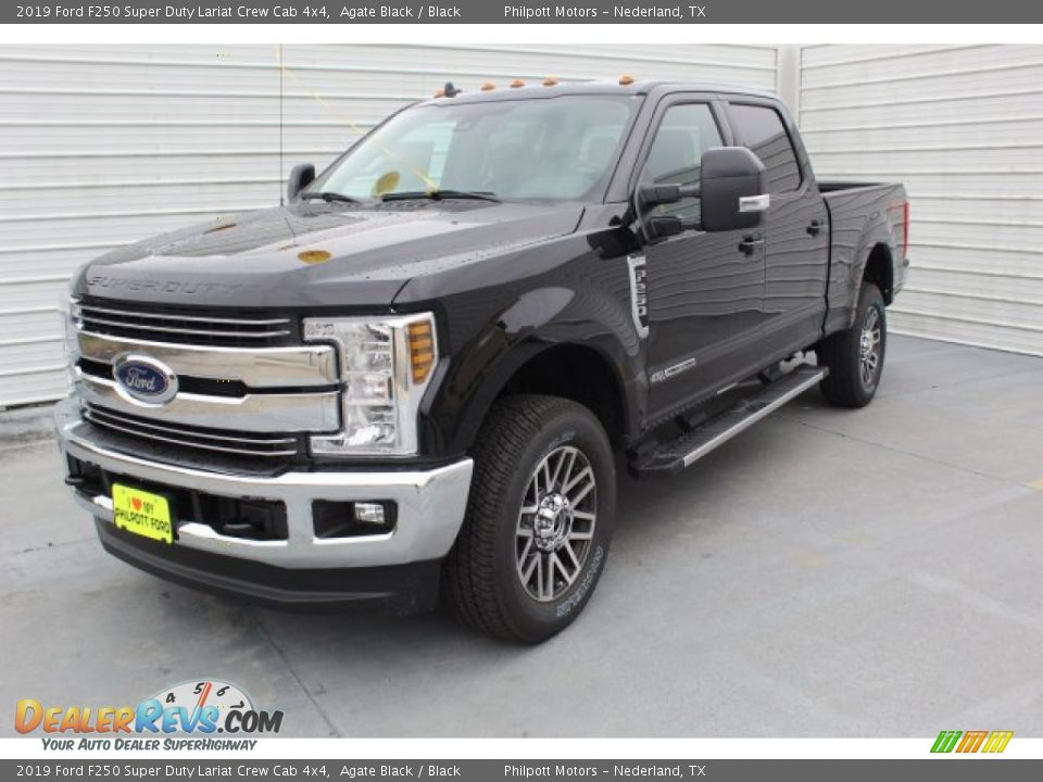2019 Ford F250 Super Duty Lariat Crew Cab 4x4 Agate Black / Black Photo #4