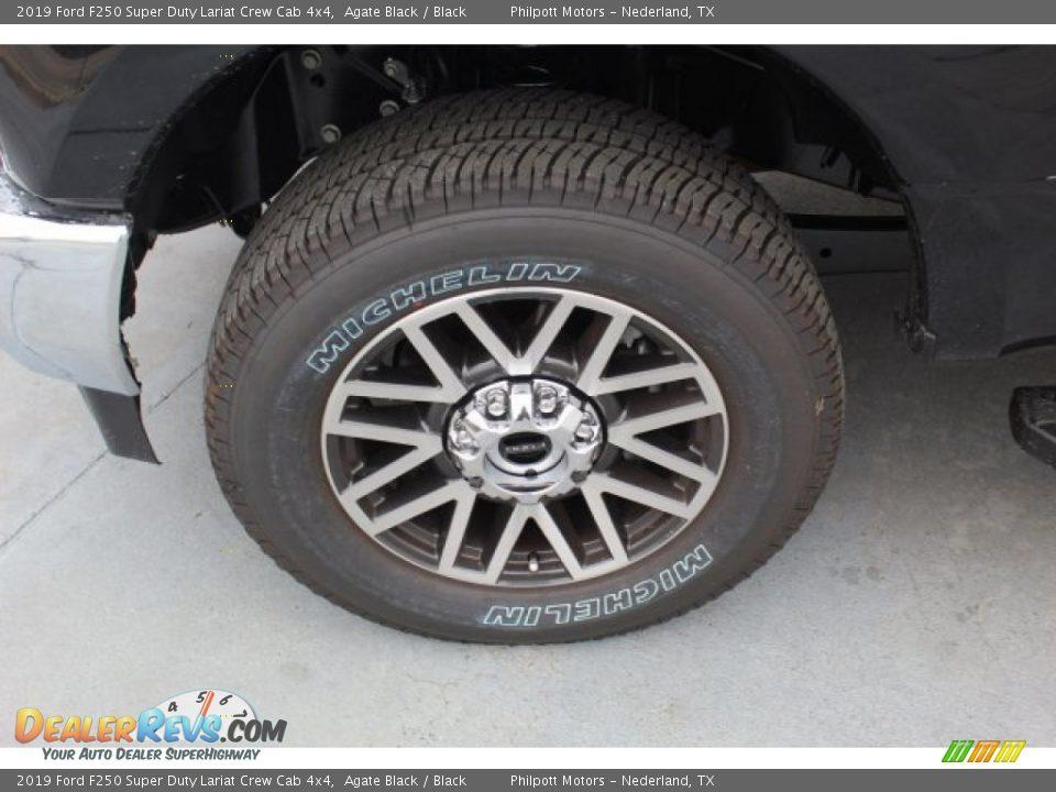 2019 Ford F250 Super Duty Lariat Crew Cab 4x4 Agate Black / Black Photo #5