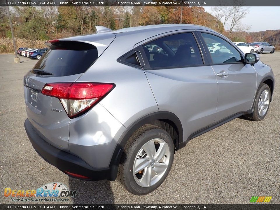 2019 Honda HR-V EX-L AWD Lunar Silver Metallic / Black Photo #4