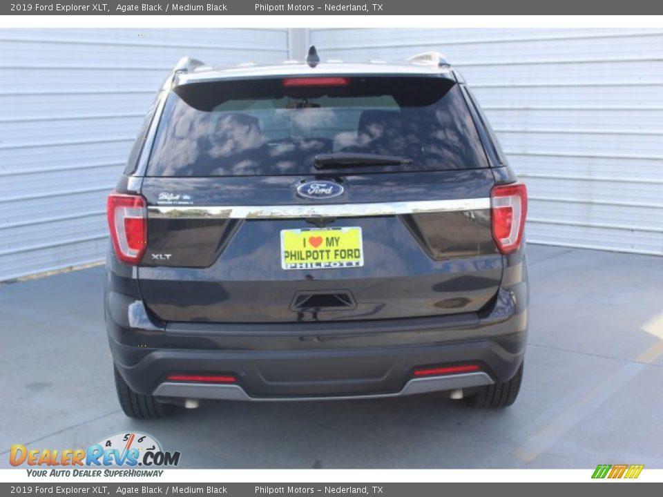 2019 Ford Explorer XLT Agate Black / Medium Black Photo #7