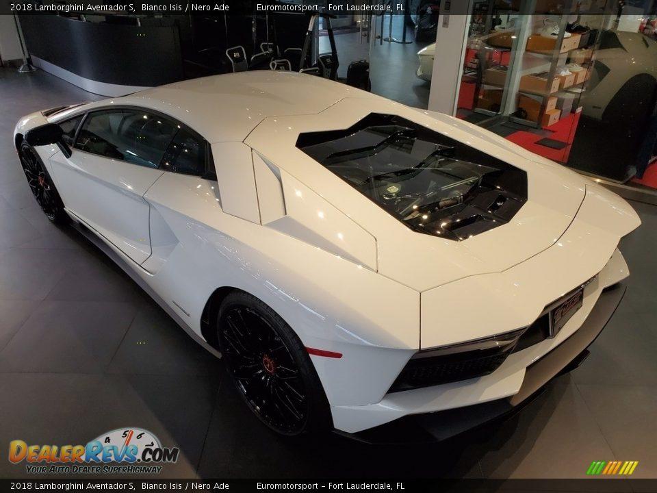 Bianco Isis 2018 Lamborghini Aventador S Photo #9