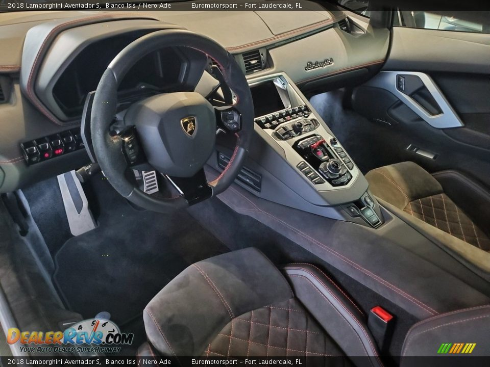 Nero Ade Interior - 2018 Lamborghini Aventador S Photo #16