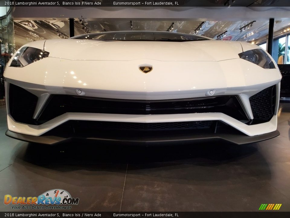 2018 Lamborghini Aventador S Bianco Isis / Nero Ade Photo #26