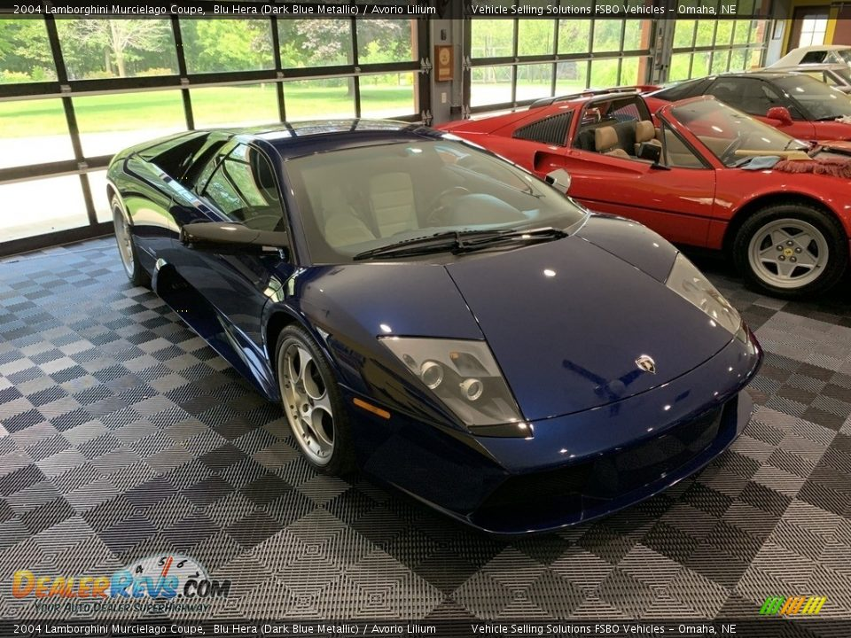 Blu Hera (Dark Blue Metallic) 2004 Lamborghini Murcielago Coupe Photo #11