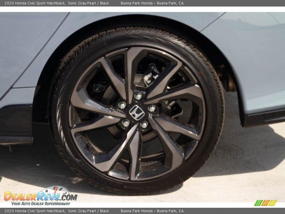 2020 Honda Civic Sport Hatchback Sonic Gray Pearl / Black Photo #14