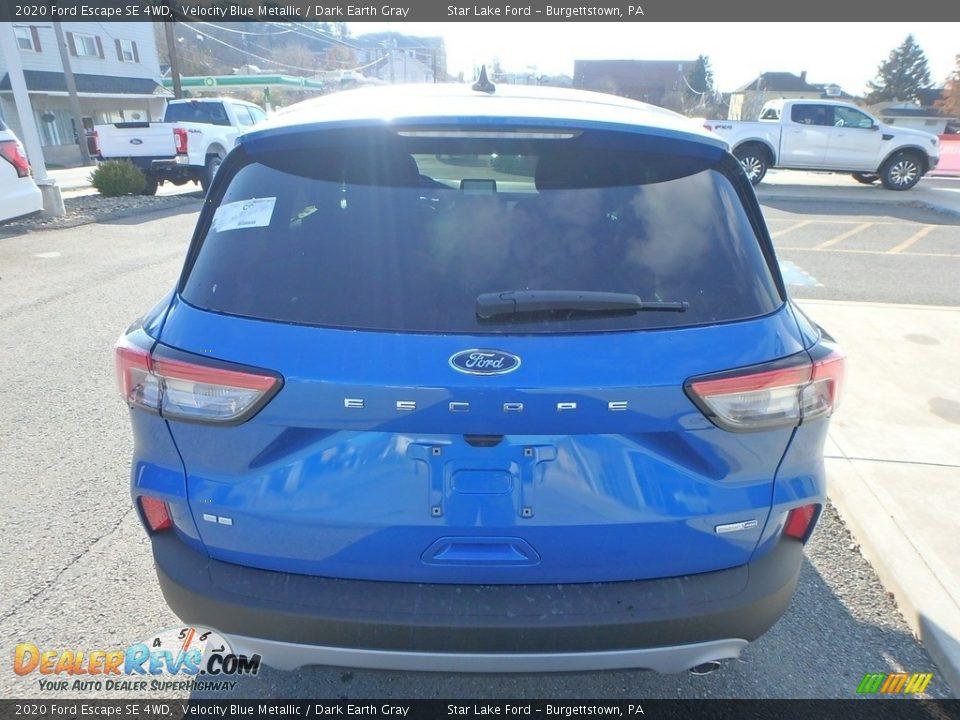 2020 Ford Escape SE 4WD Velocity Blue Metallic / Dark Earth Gray Photo #6