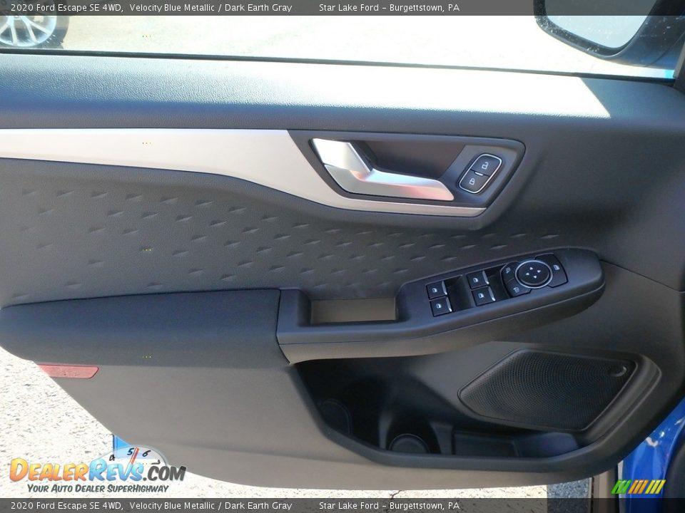 2020 Ford Escape SE 4WD Velocity Blue Metallic / Dark Earth Gray Photo #15