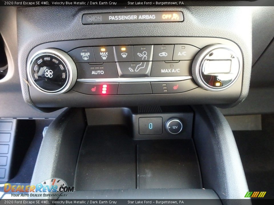 2020 Ford Escape SE 4WD Velocity Blue Metallic / Dark Earth Gray Photo #18