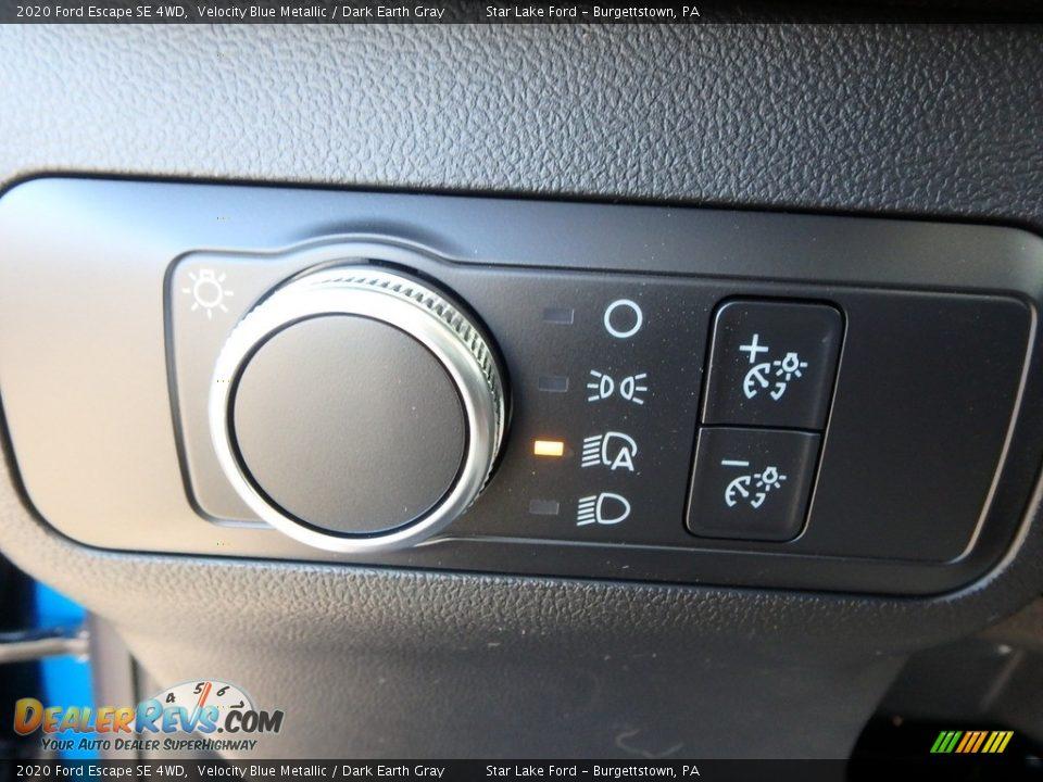 2020 Ford Escape SE 4WD Velocity Blue Metallic / Dark Earth Gray Photo #20