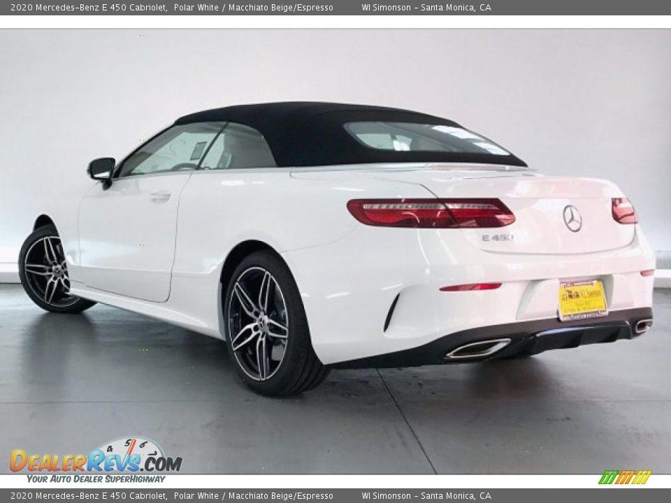 2020 Mercedes-Benz E 450 Cabriolet Polar White / Macchiato Beige/Espresso Photo #2